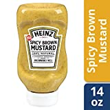 Heinz Spicy Brown Mustard, 14 ounce Easy Squeeze Bottle(Pack of 6)