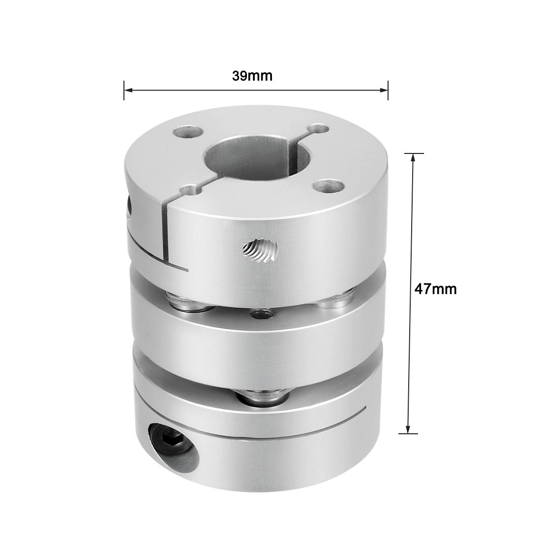 sourcingmap 10mmx14mm Clamp Tight Motor Shaft Double Diaphragm Coupling Coupler