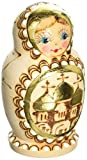 """G. Debrekht Gold Floral Bw Nested Doll, 3.5"""", used for sale  Delivered anywhere in USA"""