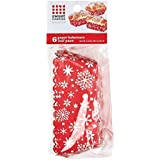 Sweet Creations 6 Count Snowflake Paper Bakeware Loaf Pans, Red