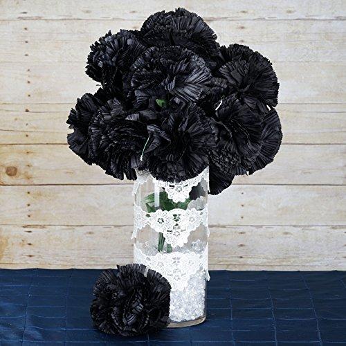 - BalsaCircle 36 Black Silk Extra Large Carnations Flowers - 4 Bushes - Artificial Flowers Wedding Party Centerpieces Arrangements Supplies