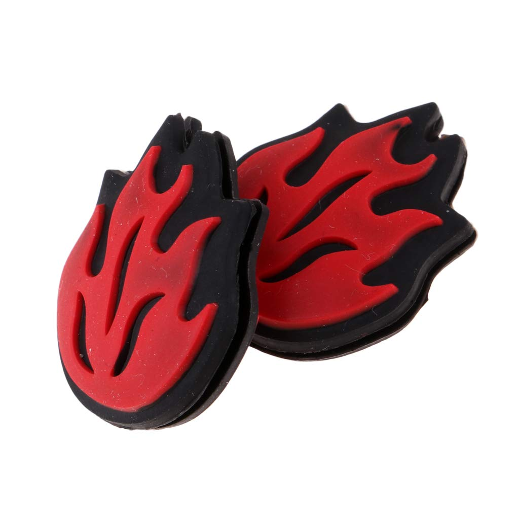 Red DYNWAVE 4 Pieces//Pack Silicone Practical Flame Tennis Racket Vibration Dampeners
