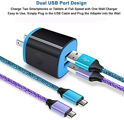 Amazon.com: Adaptador de carga, bloque de carga, AndHot 2.1 ...
