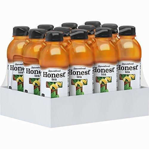 Honest Tea (Organic Unsweet Lemon Tea, 16.9-Ounce Bottle, Pack of 12) (Zero Gold Leaf)