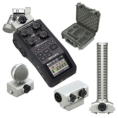 Broadcast Grade Shotgun Microphone (Zoom H6 + SGH-6 Mic + EXH-6 + SKB 1209 Waterproof Broadcast Kit Case - Bundle)