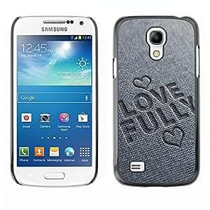 Paccase / Dura PC Caso Funda Carcasa de Protección para - BIBLE Love Fully - Samsung Galaxy S4 Mini i9190 MINI VERSION!