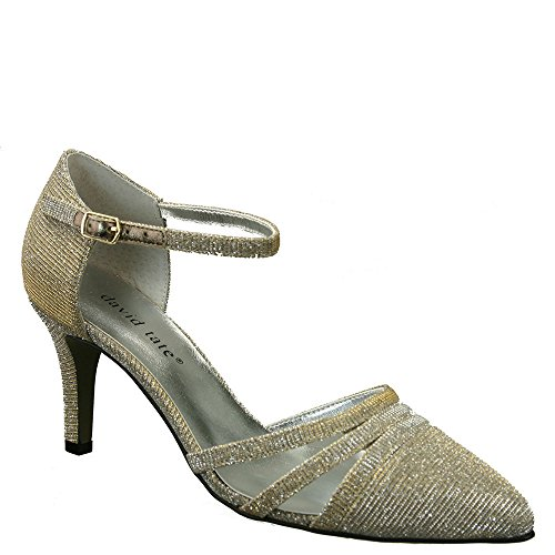 David Tate Dames Ava Pump Gold Glitz