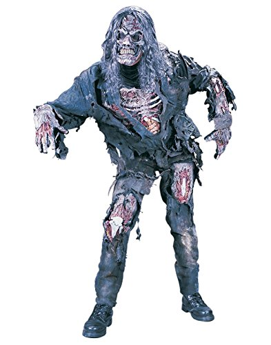 FunWorld Men's Complete 3D Zombie Costume, Grey, One Size