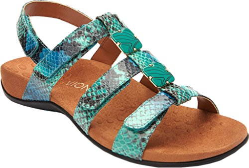 Snake Vionic Amber Womens Teal 44 Rest Synthetic Sandals 00qUr