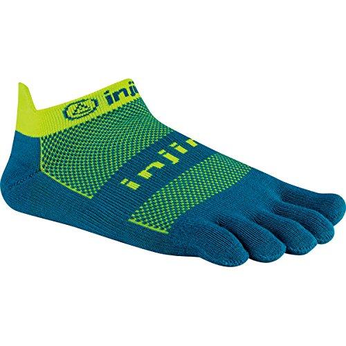 Injinji Run Original Weight No Show Xtralife Socks, Electric Blue, Small