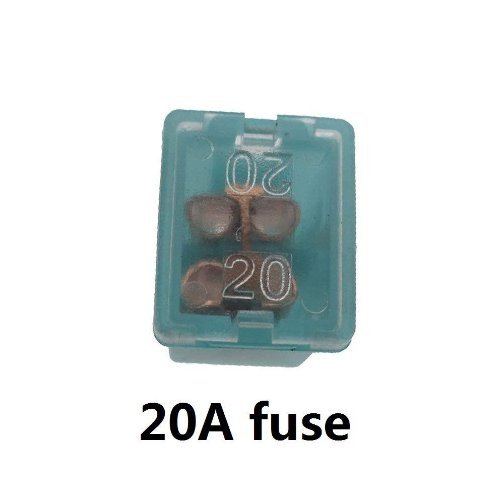 Anfukone 12 St/ück weibliche Sicherungen Sortiment 20 A 25 A 30 A 40 A 50 A 60 A Auto