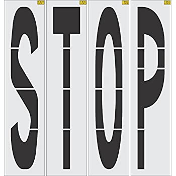 Image of 96' Stop Stencil 1/8' (.125') PRO-Grade LDPE Signs