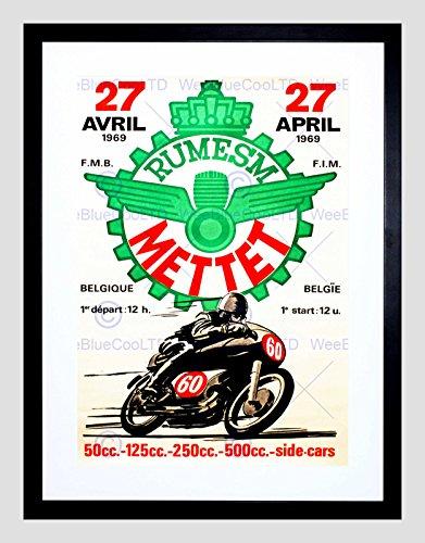 Vintage Motor Racing (VINTAGE ADVERT TRANSPORT MOTORCYCLE RACING NEW FRAMED ART PRINT MOUNT B12X11565)