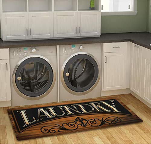 "Homcomoda Laundry Room Mats Washable Runner Rug Non Slip Area Rug(20""×48"")"