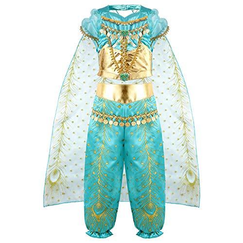 Disfraz Niña Jasmine Princesa Vestido Traje Navidad Regalo Cumpleaños Halloween Cosplay Fiesta Carnaval