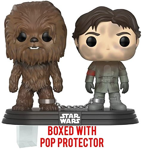 Funko Pop! Star Wars: Solo A Star Wars Story - Han Solo and Chewbacca 2 Pack Vinyl Figure (Bundled with Pop Box Protector Case)