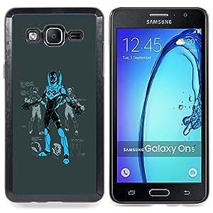 /Skull Market/ - Superhero Comic Game Character Blue Black For Samsung Galaxy On5 SM-G550FY G550 - Mano cubierta de la caja pintada de encargo de lujo -