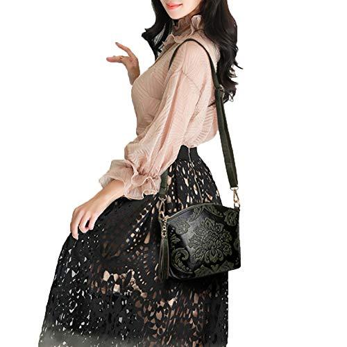 Moda Retrò Tracolla Borsa Colore Di In Cinese Mano Borsa Selvaggia Femminile In Tracolla Stile Pelle A Di Portatile Borsa Red A A q0wUAA