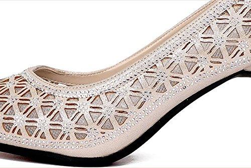 De De Baile Baile Tacones A GUOSHIJITUAN Zapatos Zapatos De Zapatos Sandalias Blando De Genuino Señoras Baile Fondo Cuero Salón xYxwPpqX