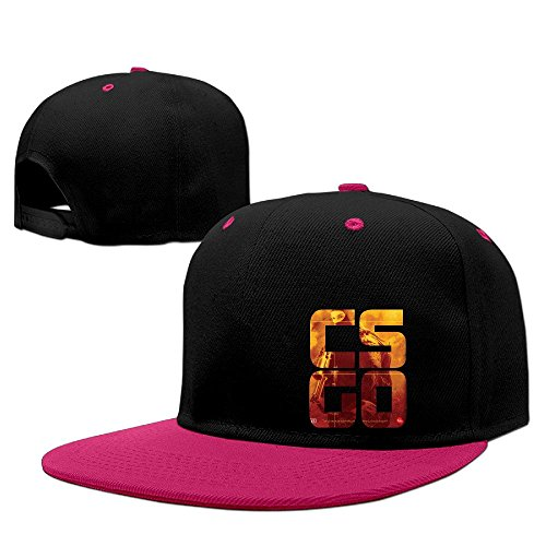 Custom Unisex-Adult GO Video Game Psoter Flat Bill Baseball Caps Pink