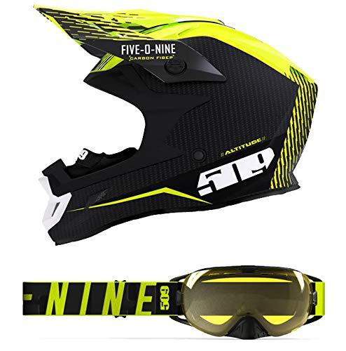 509 Altitude Carbon Fiber Helmet Goggle Combo - Off Grid HiVis (2X) (Evolution Helmet Carbon)