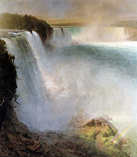 The Museum Outlet - Art Postcard - Niagara Falls, from the American side by Frederick Edwin Church - Set of 12 - Outlet Niagara Falls
