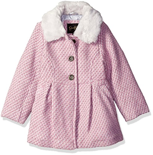 - Jessica Simpson Little Girls' Toddler Single Breasted Wool Coat with Bow Back, Pink, 3T