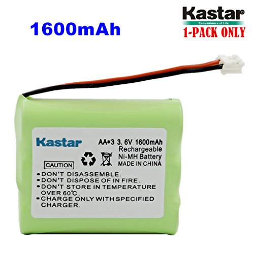 Kastar 1-PACK AAX3 3.6V 1600mAh EH Ni-MH Rechargeable Battery for Vtech, Motorola, Radio Shack, Sanyo Series Cordless Phone (Check your Cordless Phone Model down) - Mh Series