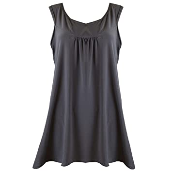 Igemy--- Camisa para Mujer, sin Mangas, sin Mangas, Cuello Redondo