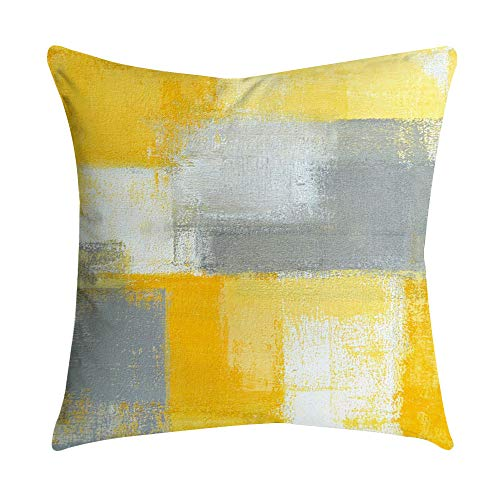 AOJIAN Home Decor Yellow Square Decorative Cushion Cover Pillow Protectors Bolster Pillow Case Pillowslip,Throw Pillow Covers