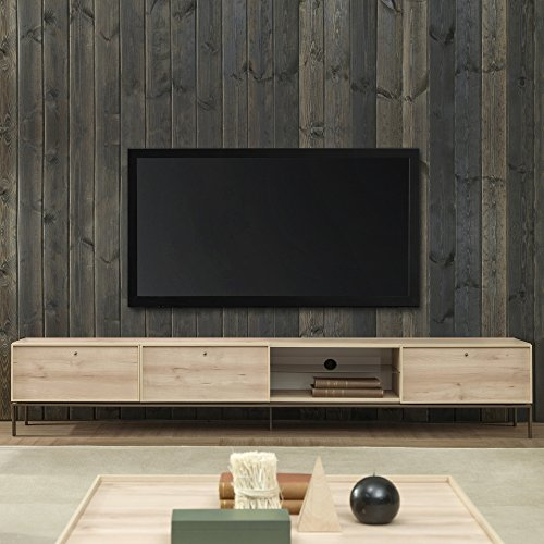 Price comparison product image Adam and Illy VAL1682 Valentin TV Stand,  Iconic Oak