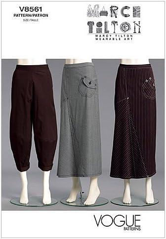 Vogue Patterns v8561 Patrones de Costura para Falda y Pantalones ...