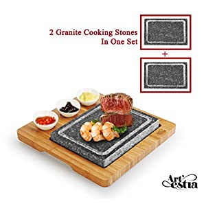 Artestia Sizzling Hot Stone, Deluxe Tabletop Barbecue / BBQ / Hibachi / Steak Grill
