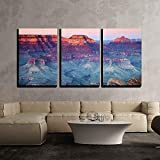 wall26 - 3 Piece Canvas Wall Art - Grand Canyon National Park, Arizona, United States - Modern Home Decor Stretched and Framed Ready to Hang - 24''x36''x3 Panels