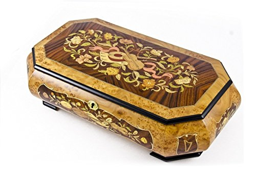 Extraordinary 30 Note Grand Musical Theme Music Jewelry Box with Lift Up Tray - Scarborough Fair by MusicBoxAttic