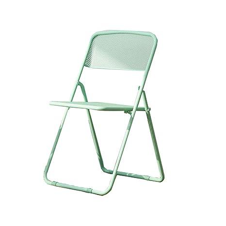 Amazon.com: Moderna silla plegable minimalista de hierro ...