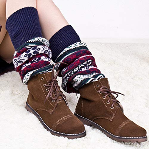 Gorgeous Women Knee High Socks - Zakally Christmas Gifts,Womens Gorgeous Soft Fluffy,Winter Cable Knit Over Knee Long Boot Thigh-High Warm Sock Legging