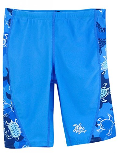 Tuga Boys Jammer Swim Short (UPF 50+), Sapphire, 13/14 yrs (26.5