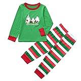 Pottseth_pajamas Kids Family Couple Matching Christmas Red Stripe Cartoon Letter Printing Pants Set Sleepwear