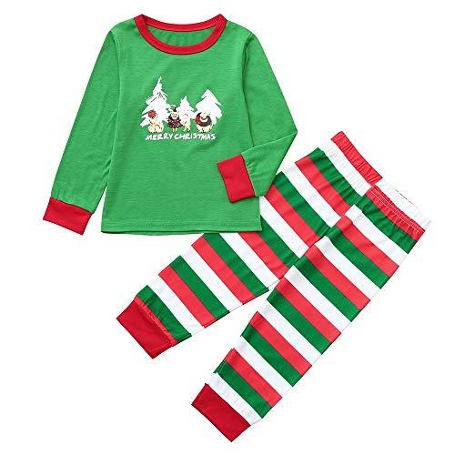 Pigiami Clothes Di Stripe Family Print Cartoon Uomo Top Letter Alikeey Natale figlio Pants Verde Papà Abbigliamento Genitore ABxgS
