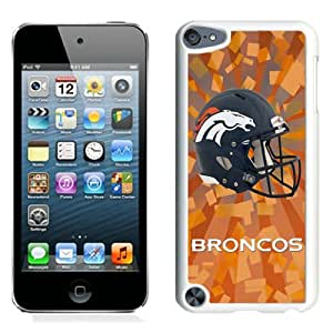 Fashionable And Nice Designed Case For iPod Touch 5 With Denver Broncos 07 White Phone Case