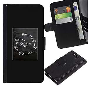 WonderWall ( No Para Xperia Z1 ) Fondo De Pantalla Imagen Diseño Cuero Voltear Ranura Tarjeta Funda Carcasa Cover Skin Case Tapa Para Sony Xperia Z1 Compact D5503 - cartel carta del éxito divertido blanco gris