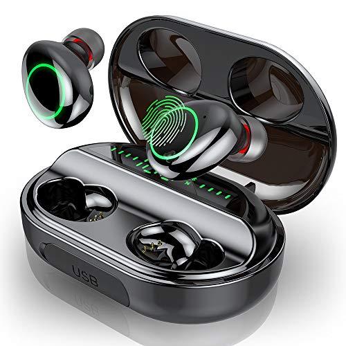 Bluetooth Kopfhörer, In Ear Kopfhörer Kabellos IPX8 Wasserdicht 150H Spielzeit mit 3500mAh Ladebox, Sport Wireless Kopfhörer Bluetooth 5.0 Earbuds mit Mikrofon, Deep Bass, LED-Anzeige, Touch Control
