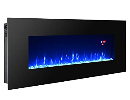 Amazon Com 3gplus Electric Fireplace Wall Mounted Heater Crystal
