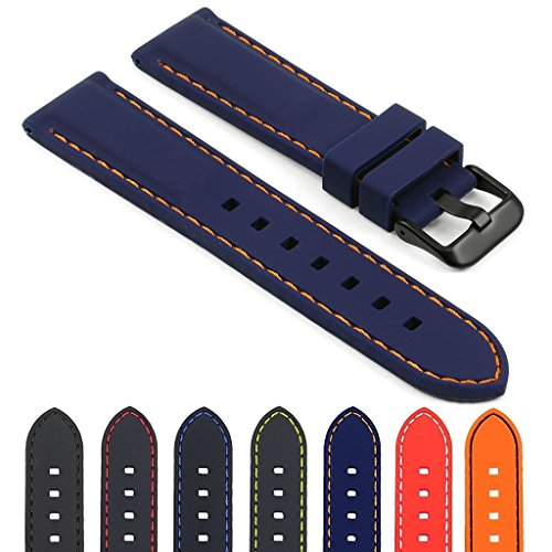 StrapsCo Rubber Diver Mens Watch Band - Quick Release Strap