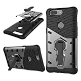 OnePlus 5T Case cover Silicone Shockproof Protective Double Layer Protection Ultra Durable 360 Kickstand Case Cover For OnePlus 5T (Black)