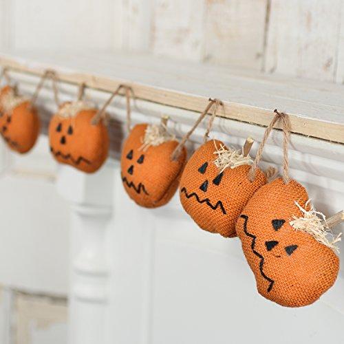 Factory Direct Craft Rustic Orange Burlap Halloween Jack O L