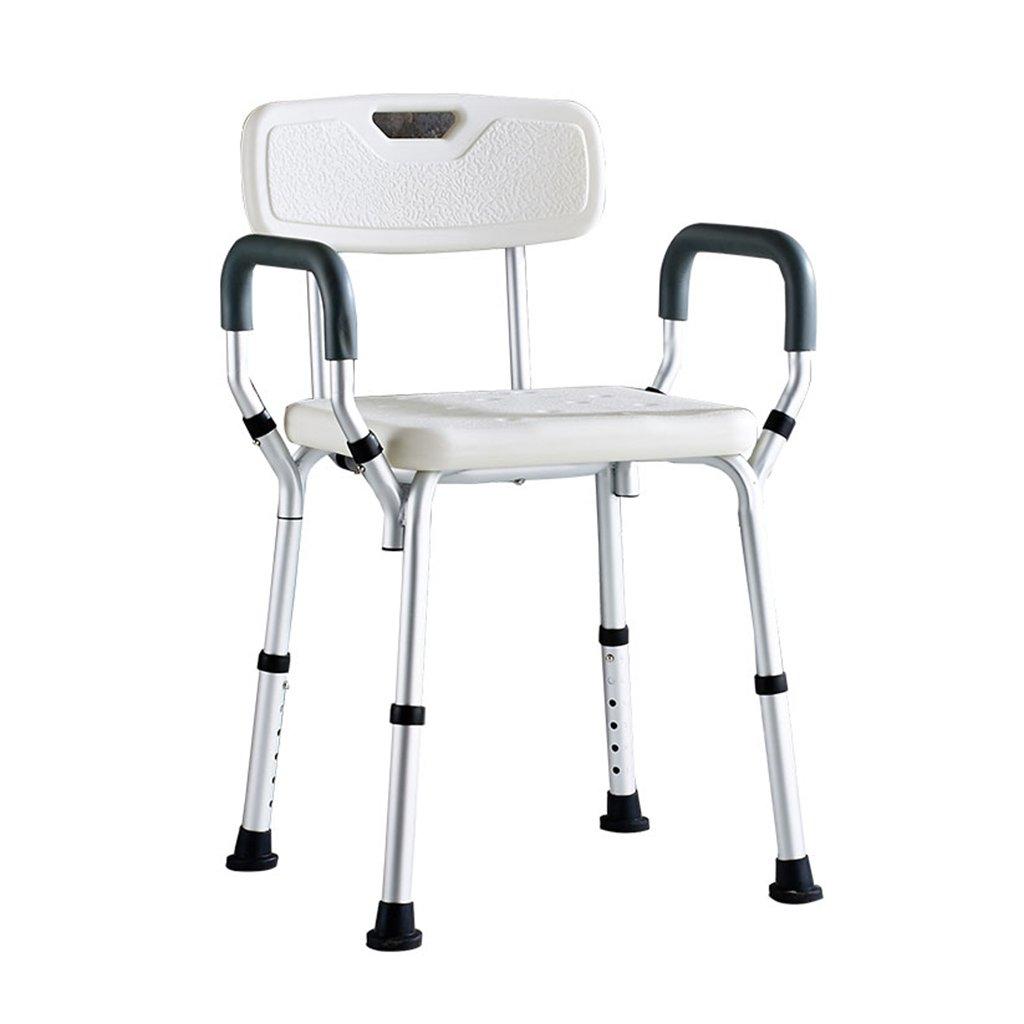 大人気 オールドマンシャワーの椅子妊娠中の女性のバスルームのシャワーの椅子障害者背もたれ付きアームレストシャワースツール B07D6GMZNX B07D6GMZNX, フタバ図書:684ead58 --- aldeiasenepol.com.br