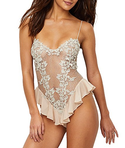 Flora Champagne - Flora Nikrooz Showstopper Teddy, L, Champagne