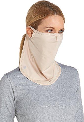 Coolibar UPF 50+ Unisex UV Face Mask - Sun Protective (Small/Medium - Beige)